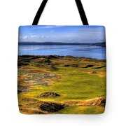 Chambers Bay Golf Course II Tote Bag by David Patterson