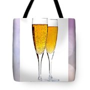 Champagne In Glasses Tote Bag by Elena Elisseeva
