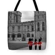 Changing Of The Guard At Windsor Castle Tote Bag by Lisa Knechtel