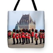 Changing Of The Guard The Citadel Quebec City Tote Bag by Edward Fielding