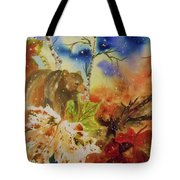Changing Of The Seasons - Square Format Tote Bag by Ellen Levinson