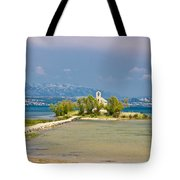 Chapel On Small Island In Posedarje Tote Bag by Brch Photography
