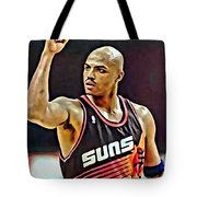 Charles Barkley Tote Bag by Florian Rodarte