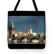 Charles Bridge Prague Tote Bag by Matthias Hauser