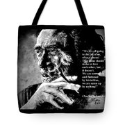 Charles Bukowski Tote Bag by Richard Tito