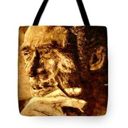 Charles Bukowski - The Love Version Tote Bag by Richard Tito