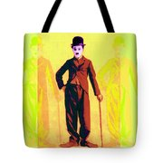 Charlie Chaplin The Tramp Three 20130216p30 Tote Bag by Wingsdomain Art and Photography