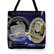 Charlotte Police Memorial Tote Bag by Gary Yost