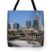 Charlotte Snow Tote Bag by Chris Austin