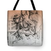 Chartres Cathedral Tote Bag by Derrick Higgins