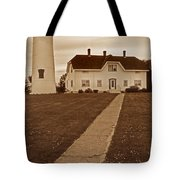Chatham Lighthouse Tote Bag by Skip Willits