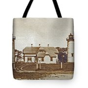 CHATHAM TWIN LIGHTS 1908-18 Tote Bag by Skip Willits