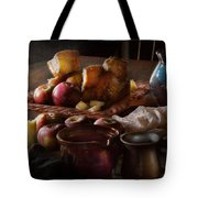 Chef - Food - A tribute to Rembrandt - Apples and Rolls  Tote Bag by Mike Savad