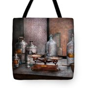 Chemist - The art of measurement Tote Bag by Mike Savad