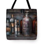 Chemist - Things that burn Tote Bag by Mike Savad