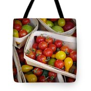 Cherry Tomatos Tote Bag by Carlos Caetano