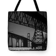 Chesapeake Bay Bridge At Annapolis Tote Bag by Skip Willits