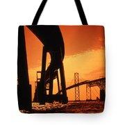 CHESAPEAKE BAY BRIDGE Tote Bag by Skip Willits
