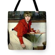 Chica In A Bar Tote Bag by Ramon Casas i Carbo