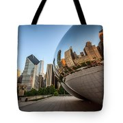 Chicago Bean Cloud Gate Sculpture Reflection Tote Bag by Paul Velgos