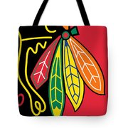 Chicago Blackhawks Tote Bag by Tony Rubino