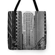 Chicago Board Of Trade Tote Bag by Christine Till
