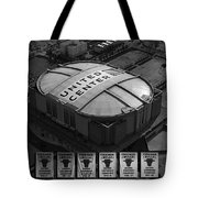 Chicago Bulls Banners In Black and White Tote Bag by Thomas Woolworth