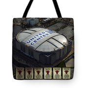 Chicago Bulls Banners Tote Bag by Thomas Woolworth