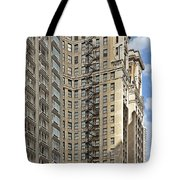 Chicago - Emergency Fire Escape Tote Bag by Christine Till