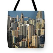 Chicago From Above - What A View Tote Bag by Christine Till