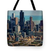 Chicago Highways 05 Tote Bag by Thomas Woolworth