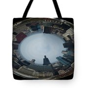 Chicago Looking West Polar View Tote Bag by Thomas Woolworth