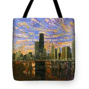 Chicago Tote Bag by Mike Rabe