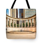 Chicago Millennium Monument in Wrigley Square Tote Bag by Paul Velgos