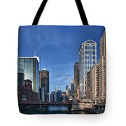 Chicago River Tote Bag by Sebastian Musial