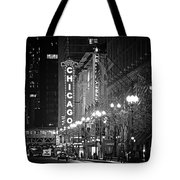 Chicago Theatre - Grandeur And Elegance Tote Bag by Christine Till