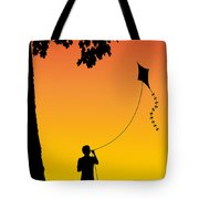 Childhood Dreams 1 The Kite Tote Bag by John Edwards
