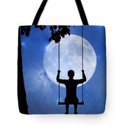 Childhood Dreams 2 The Swing Tote Bag by John Edwards