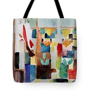 Children At The Greengrocers I Tote Bag by Franz Marc