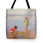 Children On The Beach Tote Bag by Charles-Garabed Atamian