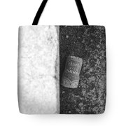 Chimay Wine Cork In Black And White Tote Bag by Rob Hans