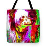 Chinese Crested Dog 20130125v2 Tote Bag by Wingsdomain Art and Photography
