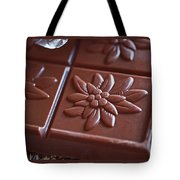 Chocolate Flower Tote Bag by Rona Black
