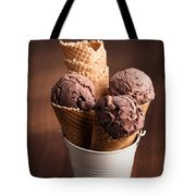 Chocolate Ice Cream Tote Bag by Amanda And Christopher Elwell