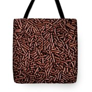 Chocolate Vermicelli Background Tote Bag by Johan Swanepoel