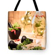 Chopping Herbs Tote Bag by Amanda And Christopher Elwell