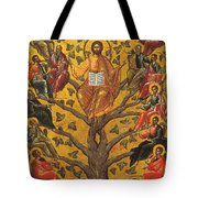 Christ And The Apostles Tote Bag by Unknown