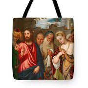 Christ and the Woman Taken in Adultery Tote Bag by Veronese
