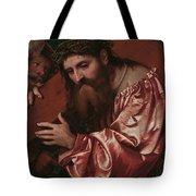 Christ Carrying The Cross Tote Bag by Girolamo Romanino