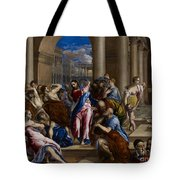 Christ Driving the Money Changers from the Temple Tote Bag by El Greco
